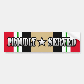 Proudly Served / Operation Iraqi Freedom Bumper Sticker