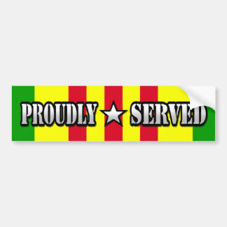 Proudly Served / Vietnam Bumper Sticker