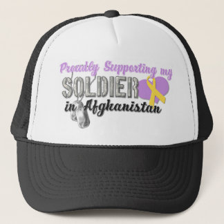 Proudly Supporting My Soldier in Afghanistan Trucker Hat