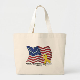 Proudly Supporting Our Troops Jumbo Tote Bag