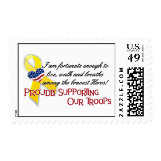 Proudly Supporting Our Troops(version2) Postage Stamp