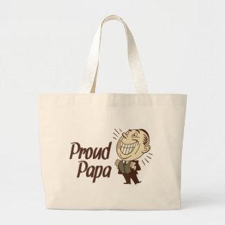ProudPapa-Light Tote Bags