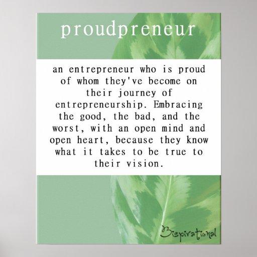 Proudpreneur Definition Poster