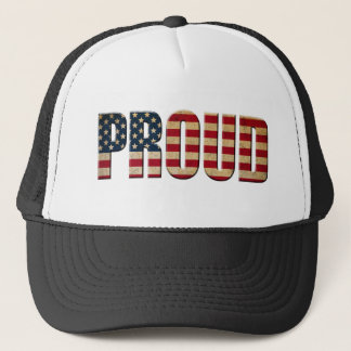 Pround to be american trucker hat
