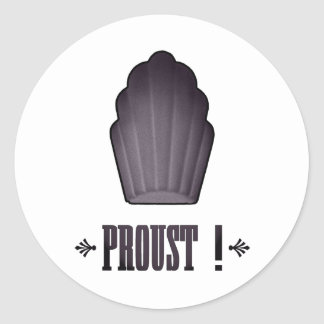 Proust ! classic round sticker