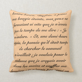 Proust words throw pillow