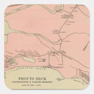Prouts Neck Scarborough, Higgins beaches Square Sticker