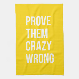 Prove Business Success Quotation Yellow Bold Hand Towel