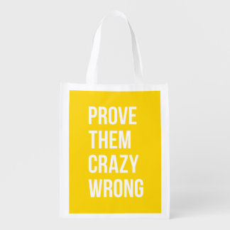 Prove Business Success Quotation Yellow Bold Market Totes