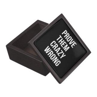 Prove Motivational Business Quotes Black Wht Bl Premium Gift Boxes