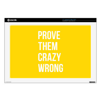 """Prove Quote Positive Words Thoughts Yellow Bold 17"""" Laptop Decal"""