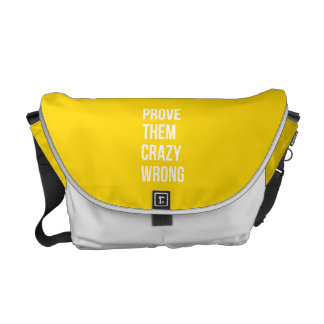 Prove Quote Positive Words Thoughts Yellow Bold Courier Bag
