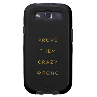 Prove Them Wrong Motivational Quotes Black Yellow Galaxy SIII Cover