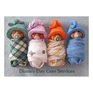 Proveedor del cuidado de día: Foto de los bebés de Plantilla De Tarjeta Personal