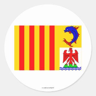 Provence-Alpes-Côte-d'Azur flag Classic Round Sticker
