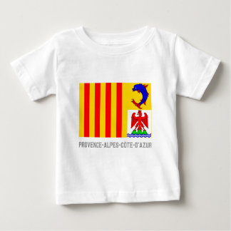 Provence-Alpes-Côte-d'Azur flag with name Baby T-Shirt