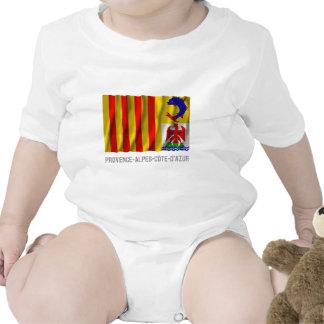 Provence-Alpes-Côte-d'Azur waving flag with name Tshirt