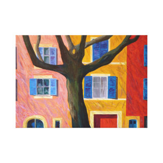 Provence and plane tree canvas print