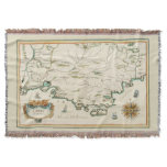 Provence Carte Throw Blanket