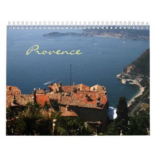 Provence, Cote d'Azur, France Calendar