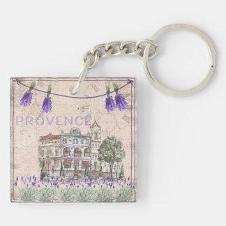 Provence France Lavender Flower Summer Love Keychain