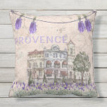 Provence France Lavender Flower Summer Love Outdoor Pillow