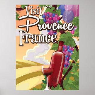 Provence France Vineyeard travel poster