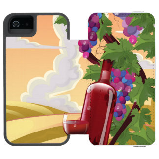 Provence France Vineyeard travel poster iPhone SE/5/5s Wallet Case