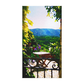 Provence garden view canvas print