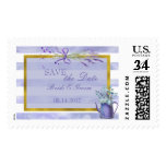 Provence Lavender Purple Flower Save the Date Postage