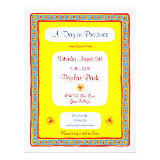 Provence Party Flyer