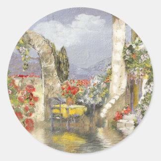 Provence Pegatina Redonda