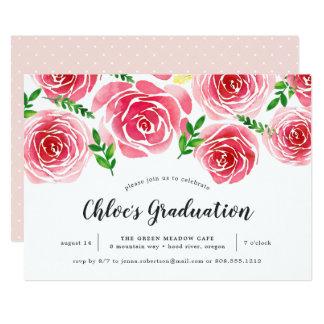 Provence Rose Graduation Party Invitation