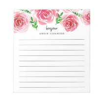 Provence Rose | Personalized Lined Notepad