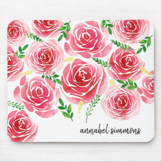 Provence Rose Personalized Mousepad