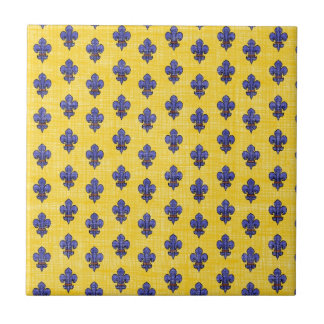 Provence South of France Fleur de Lys Pattern Tile