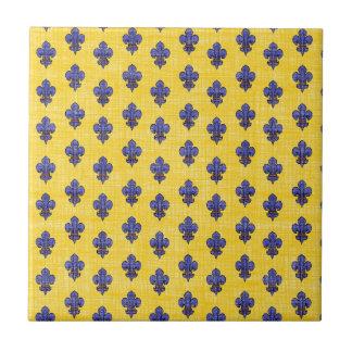 Provence South of France Fleur de Lys Pattern Tile