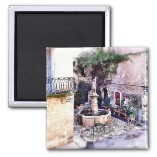 Provence village: Forcalquier 2 Inch Square Magnet