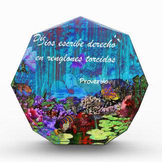 Proverb about god acrylic award