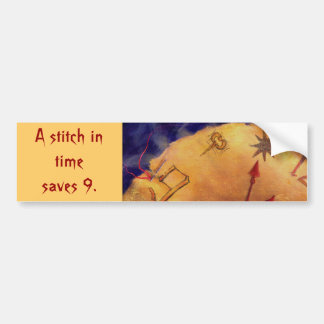 Proverb in Medieval Style, Acrylic Painting Car Bumper Sticker