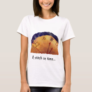 Proverb in Medieval Style, Acrylic Painting T-Shirt