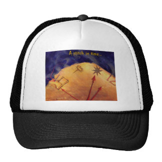 Proverb in Medieval Style, Acrylic Painting Trucker Hat