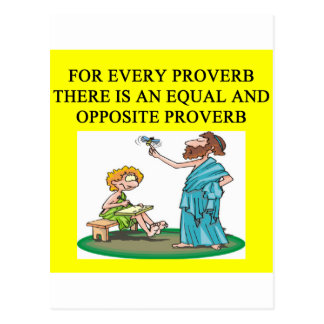 proverb proverb postcard