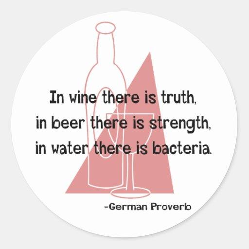 Proverbio alemán - retro pegatina redonda