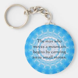 Proverbio chino de motivación llavero redondo tipo pin