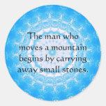 Proverbio chino de motivación pegatina redonda