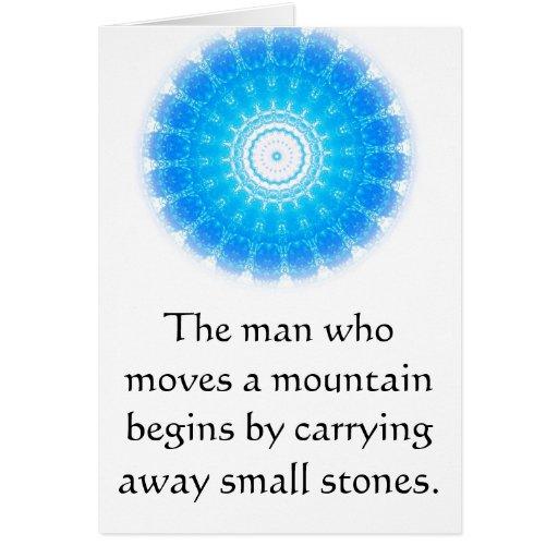 Proverbio chino de motivación tarjeta de felicitación