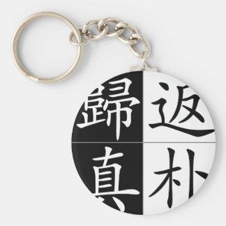 Proverbio chino, idioma: fan3 pu3 gui1 zhen1 apoya llavero redondo tipo pin