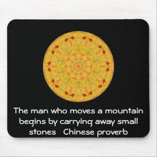 Proverbio chino inspirado alfombrilla de ratón