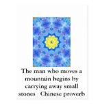 Proverbio chino inspirado postal